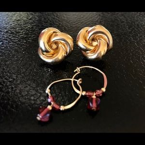 Knots - Hoops & Studs 14K Yellow Gold